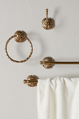 Slide View: 4: Brass Lillia Towel Bar
