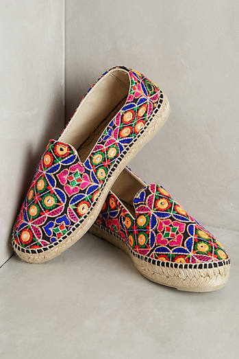 Manebi Embroidered Espadrille Sneakers