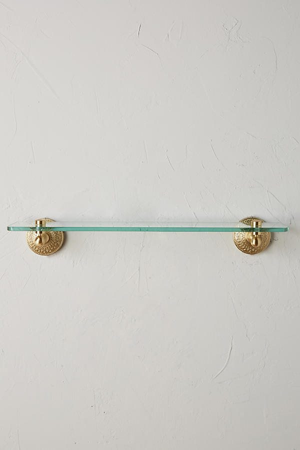 Slide View: 1: Brass Medallion Shelf