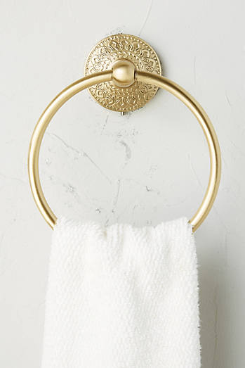 Brass Medallion Towel Ring