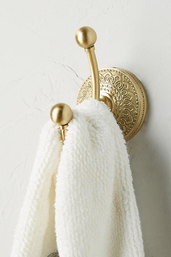 Slide View: 1: Brass Medallion Hook