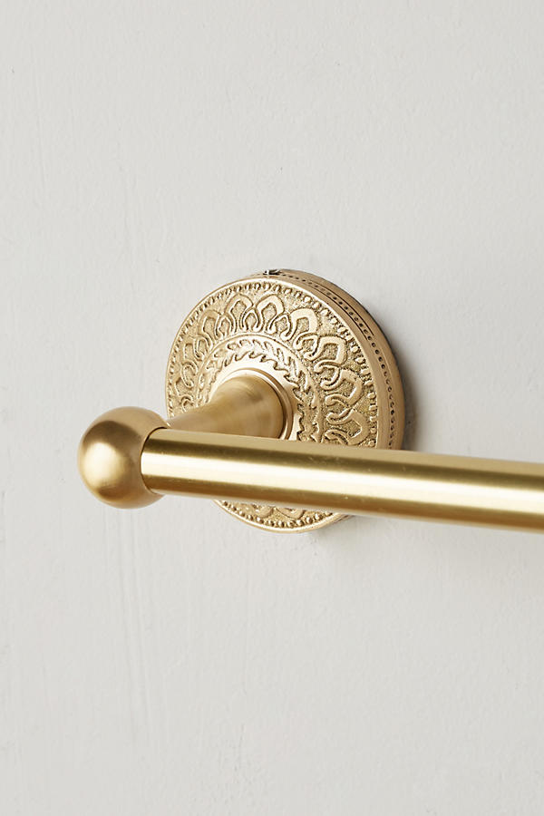 Slide View: 3: Brass Medallion Towel Bar