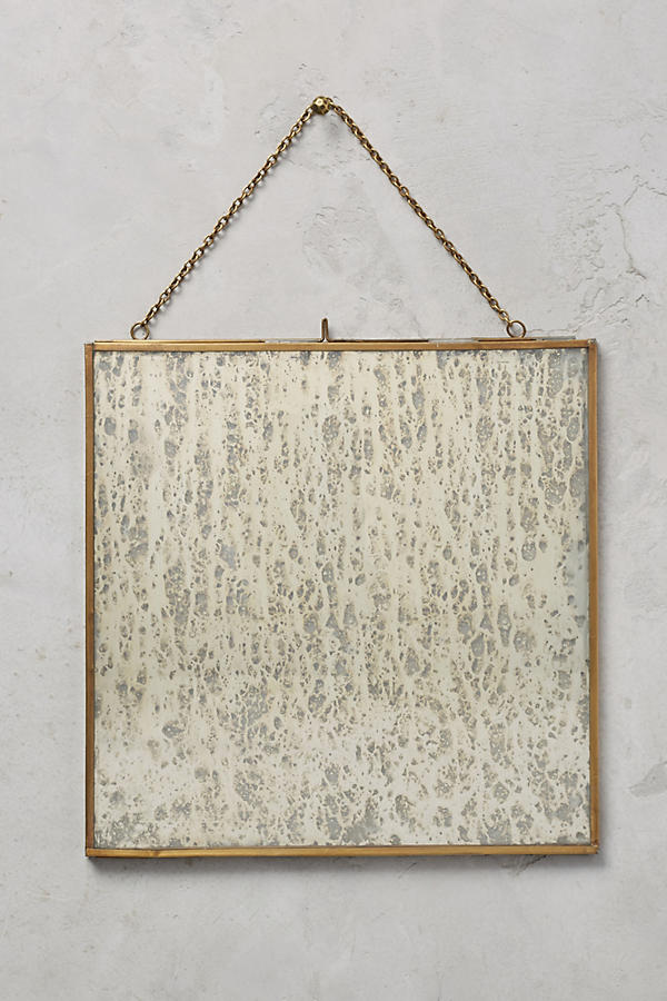 Slide View: 3: Brass Hanging Picture Frame