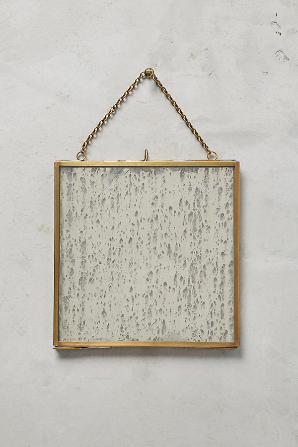 Slide View: 1: Brass Hanging Picture Frame