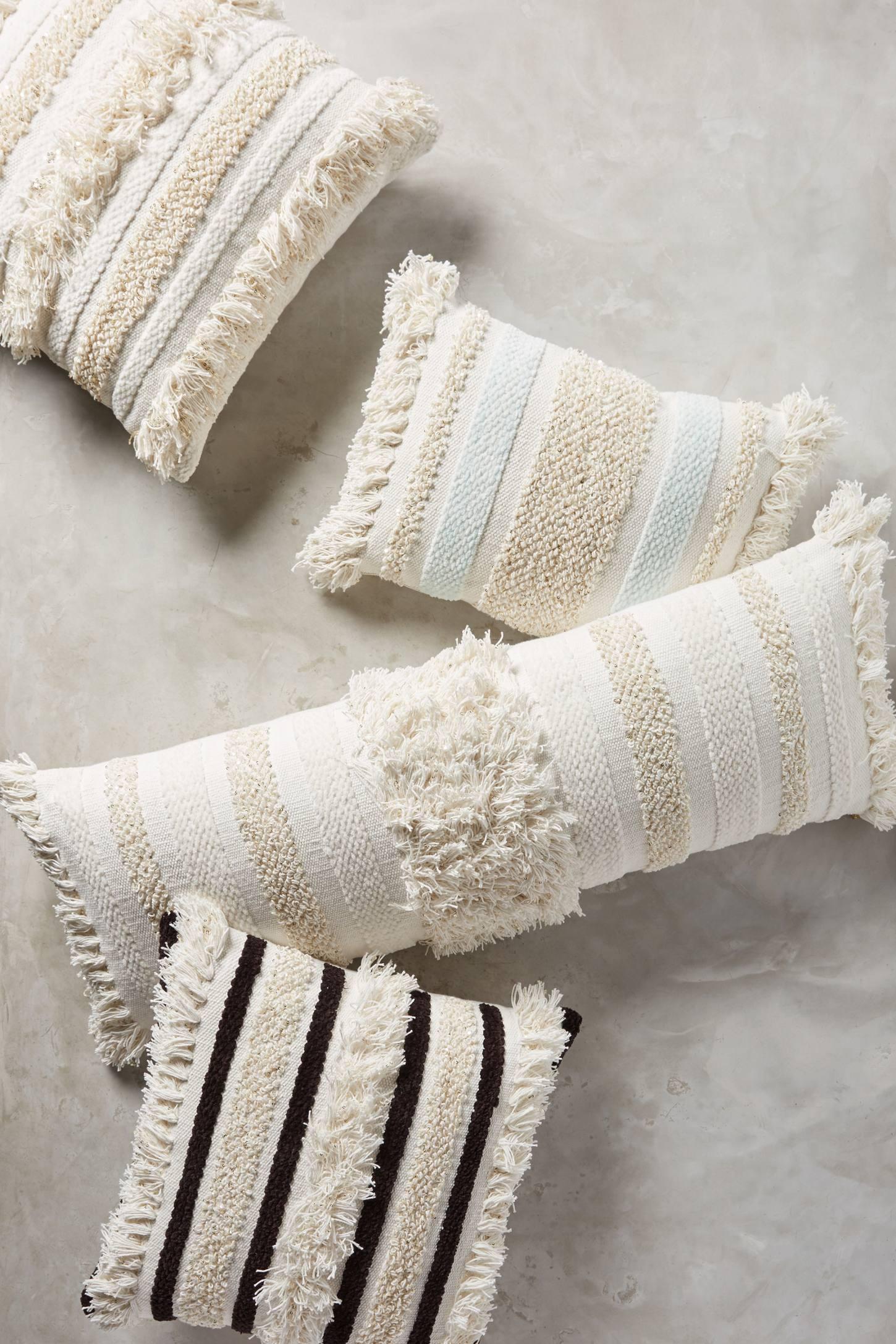 textured indira pillow anthropologie. Black Bedroom Furniture Sets. Home Design Ideas