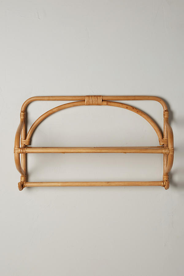 Slide View: 1: Wrapped Rattan Shelf, Wide