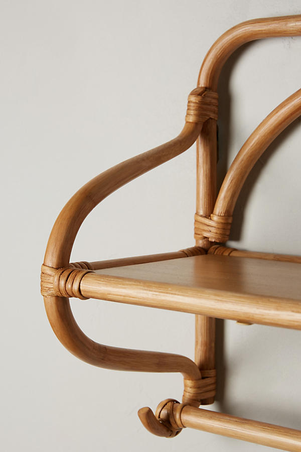 Slide View: 3: Wrapped Rattan Shelf, Wide