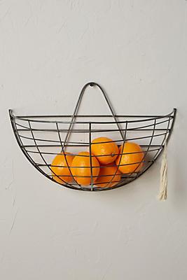 Slide View: 1: Wire Hanging Basket