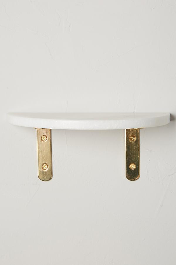 Marble Demi Shelf - White