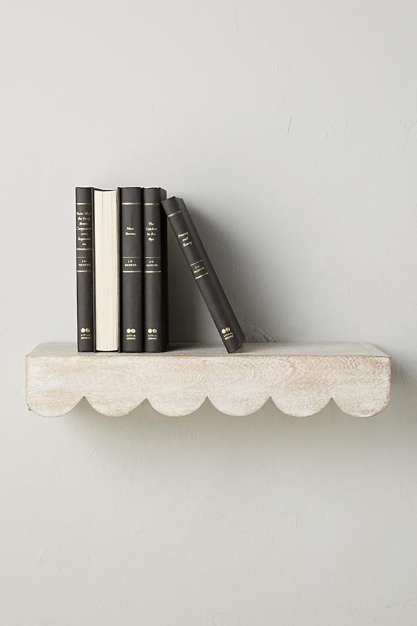 Scalloped Shelf - White, Size S