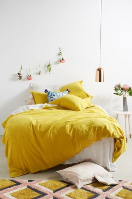 bedding bohemian unique bedding anthropologie - Yellow Bed Frame