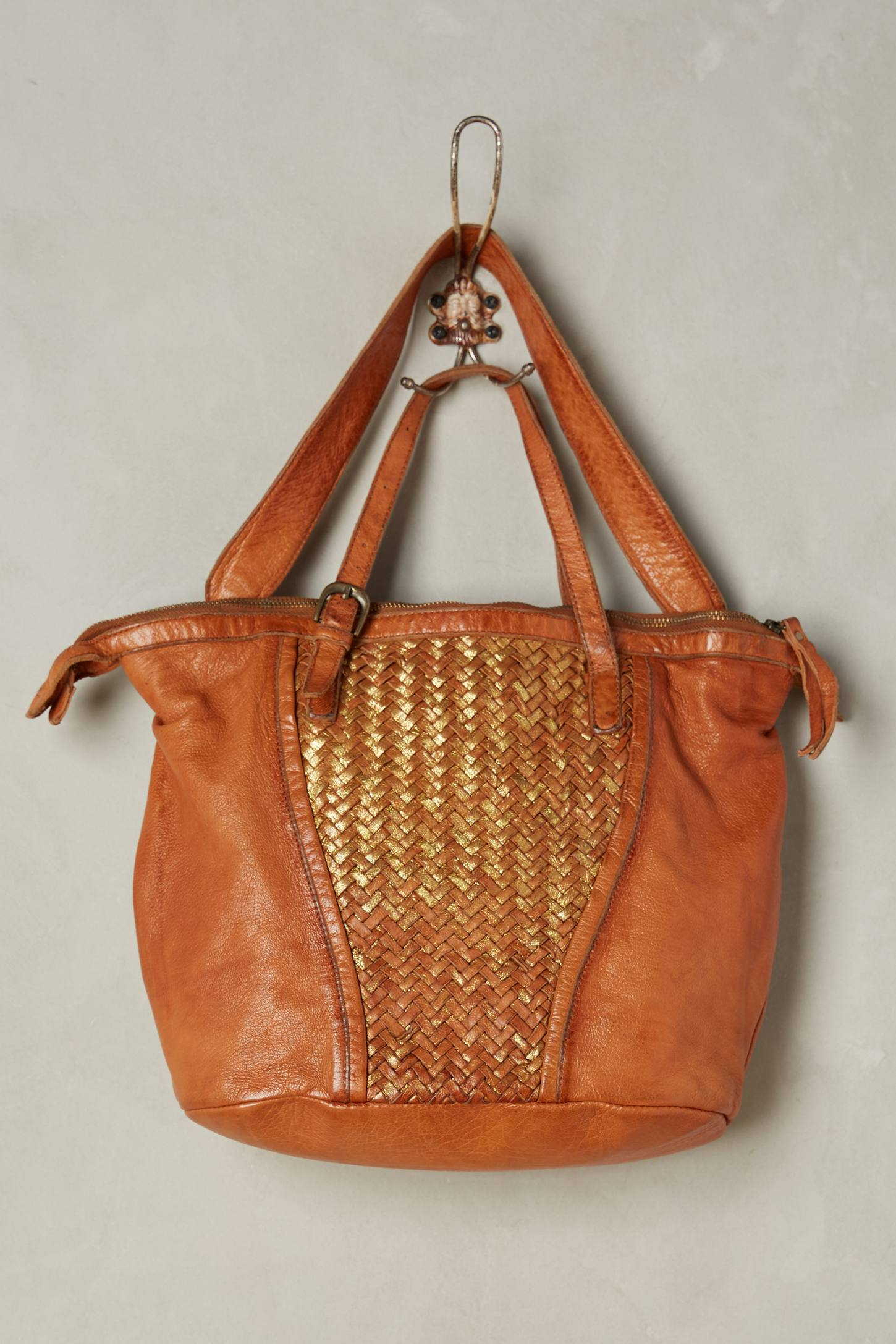 Loretto Metallic Woven Bag
