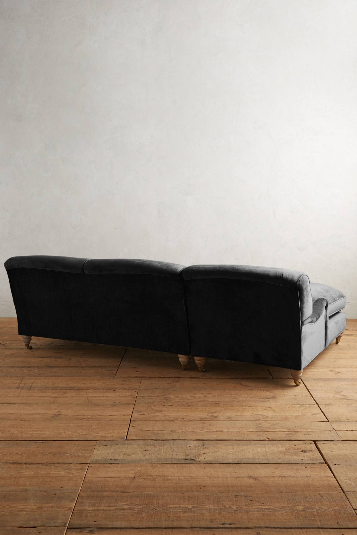 Slide View: 2: Slub Velvet Glenlee Left Sectional, Wilcox