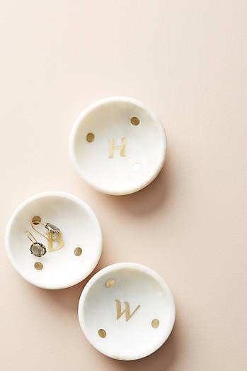 Marble Monogram Trinket Dish