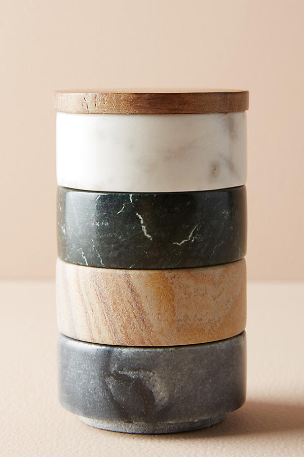 Slide View: 2: Marble Stacking Pinch Pot Trio