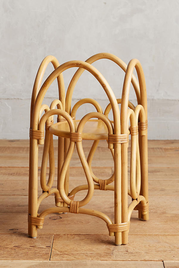 Slide View: 2: Rattan Plant Stand