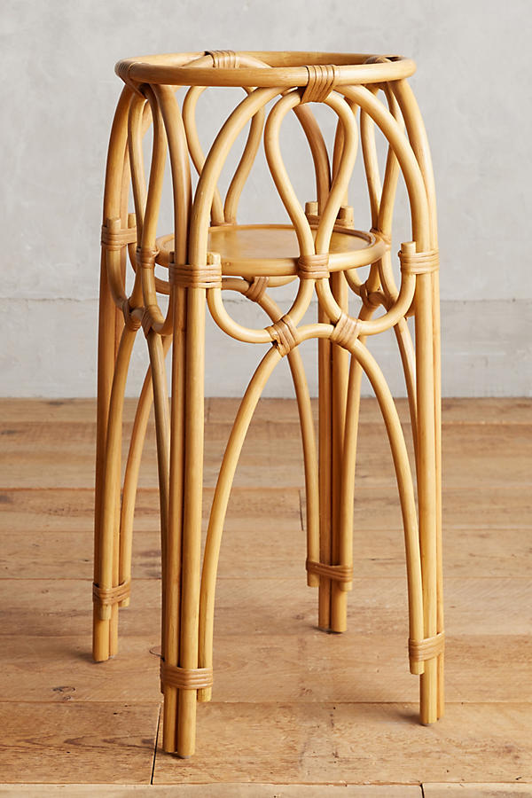 Slide View: 4: Rattan Plant Stand