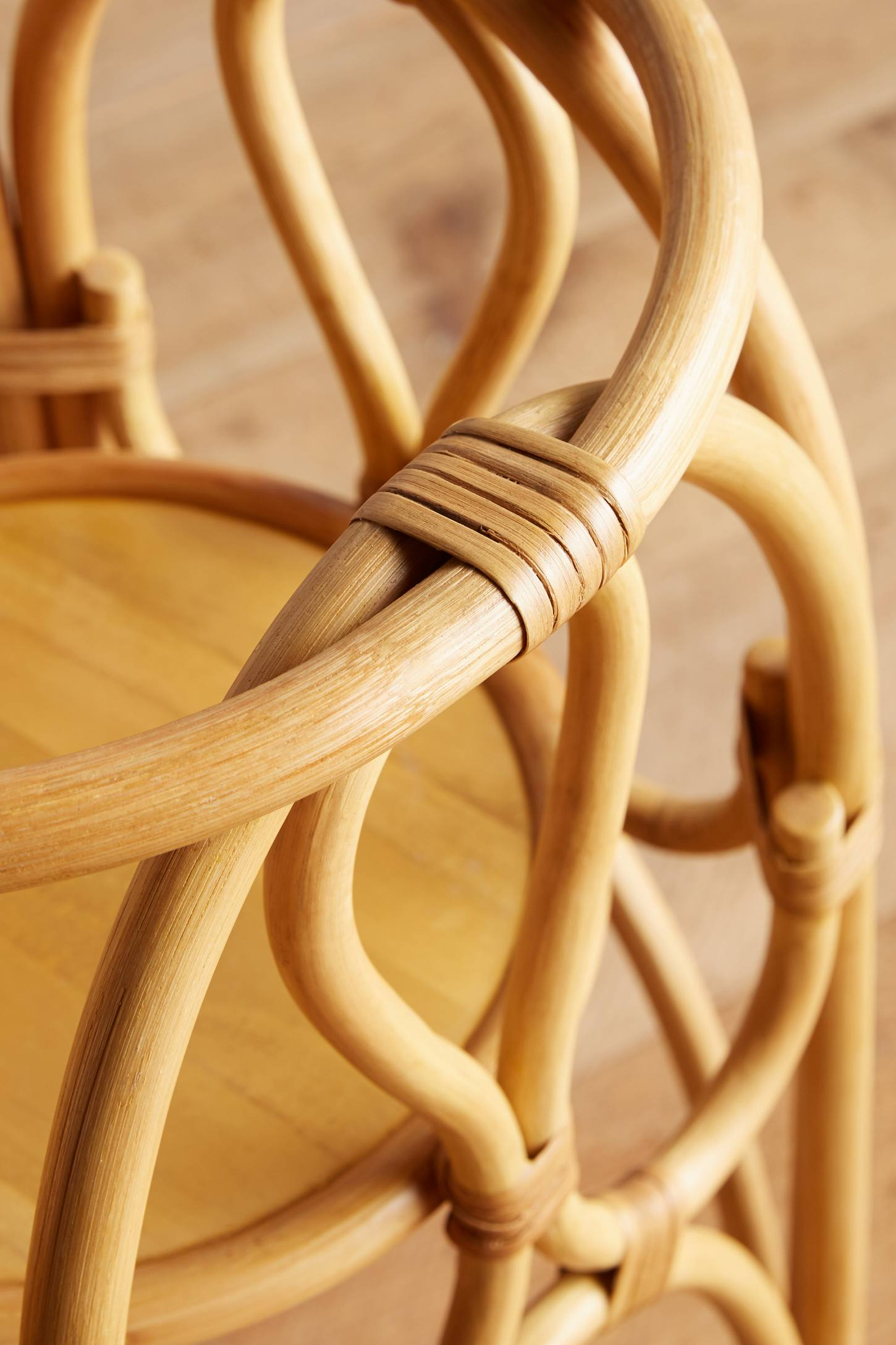 Slide View: 5: Rattan Plant Stand
