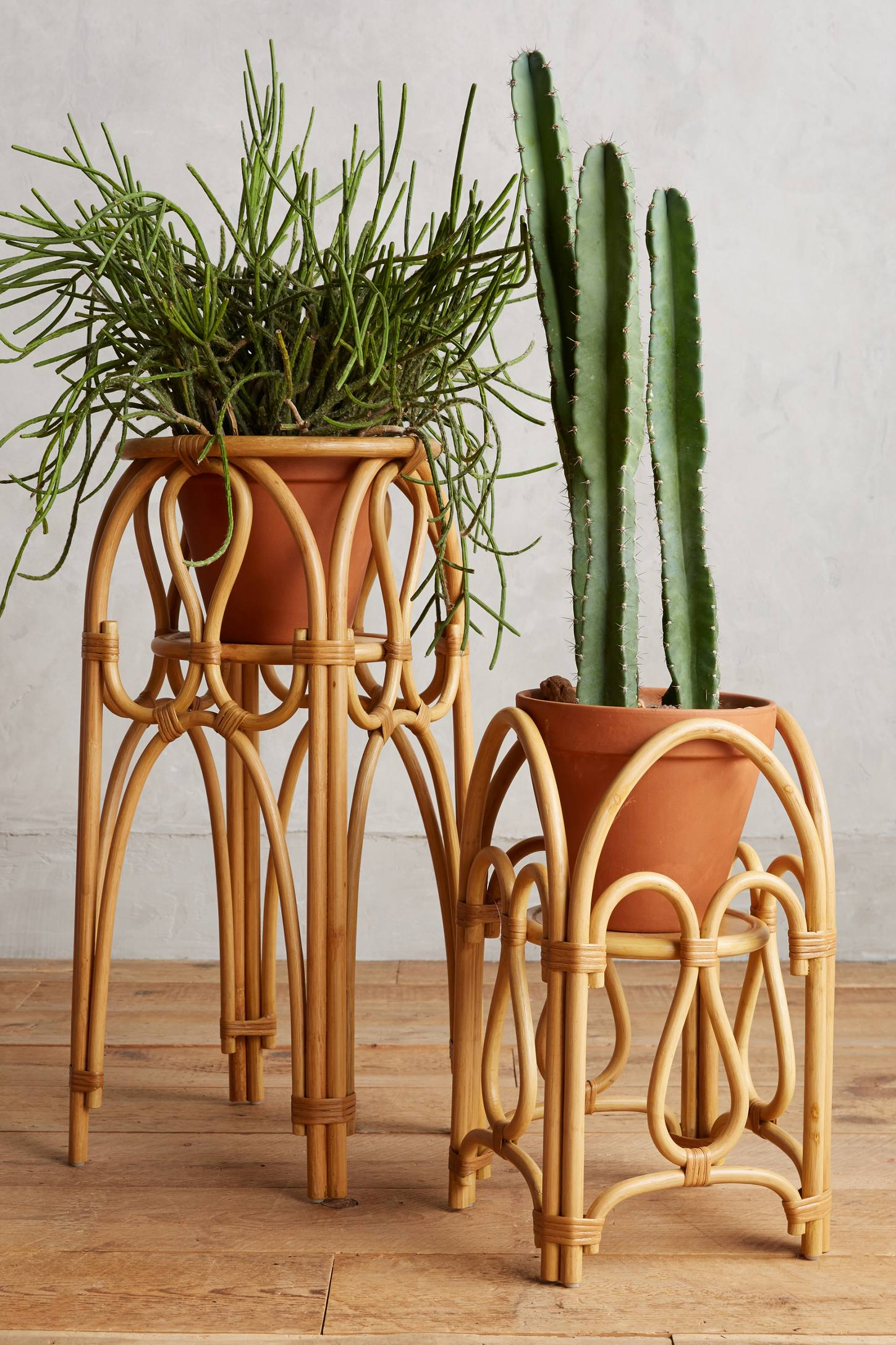Slide View: 1: Rattan Plant Stand