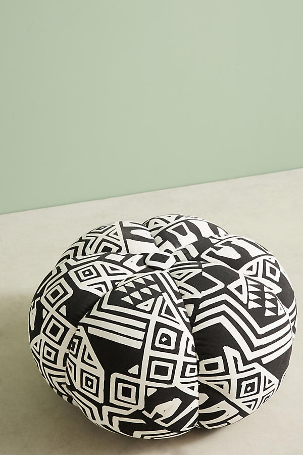 Slide View: 2: WHIT Geo-Printed Pouf