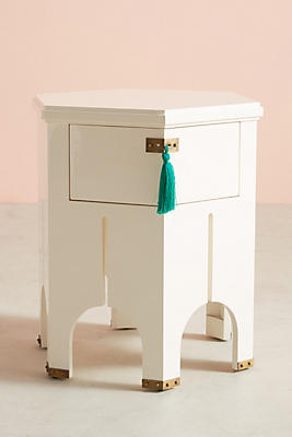 Slide View: 1: Tasseled Archway Side Table