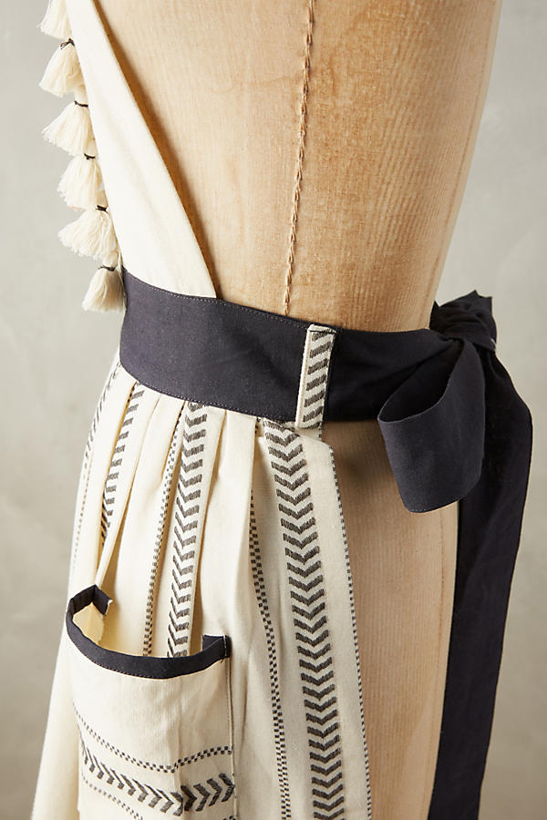Slide View: 2: Tasseled Ambra Apron