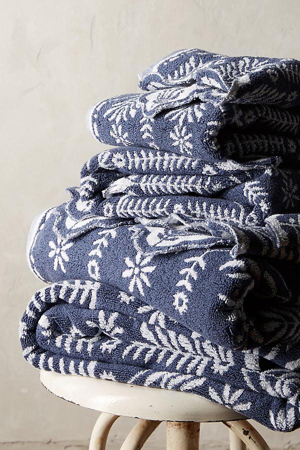 Hanna Towel Collection - Slate, Size Hand Towel
