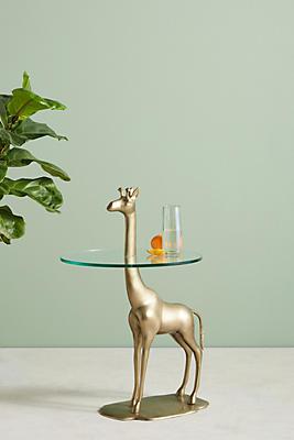 Slide View: 1: Giraffe Side Table