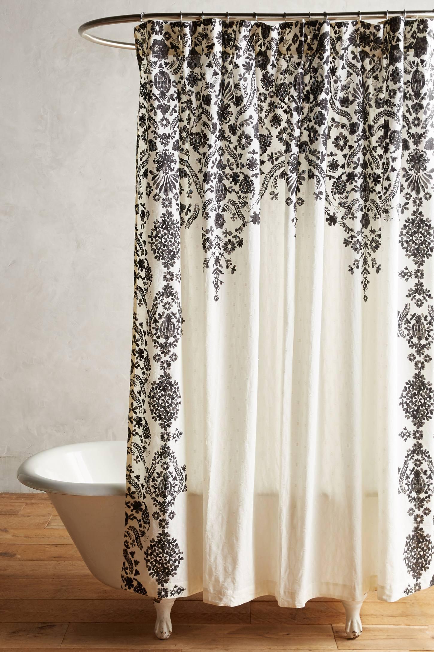 Anthropologie floral shower curtain - Oakbrook Shower Curtain Anthropologie