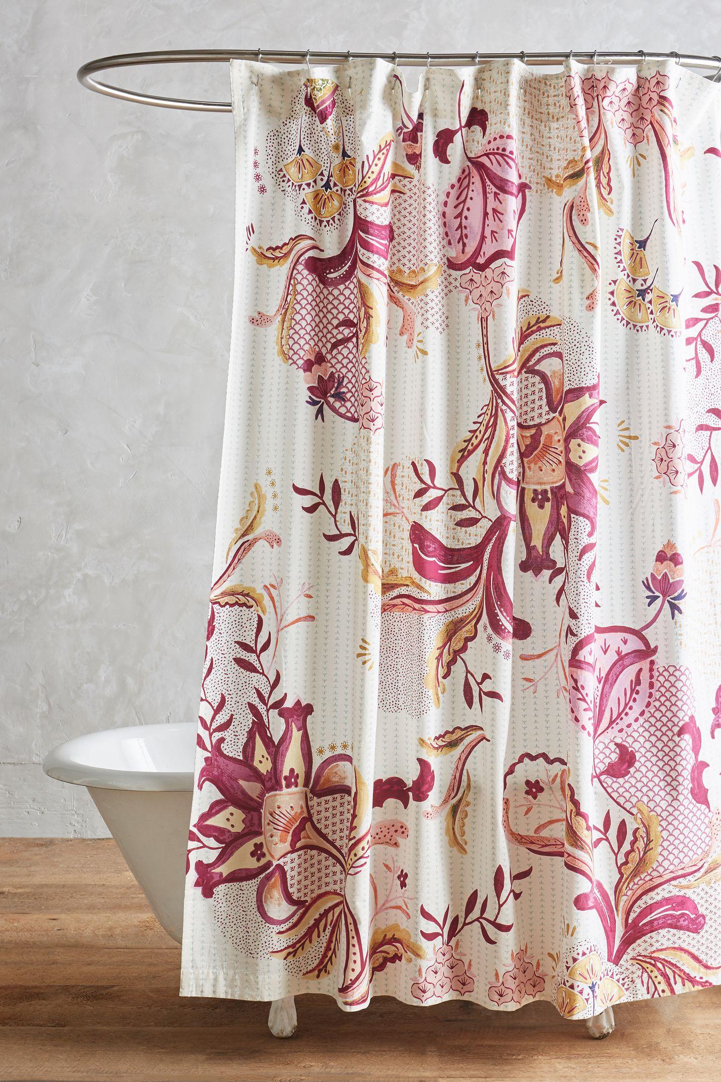 Anthropologie floral shower curtain - Anthropologie Floral Shower Curtain 36