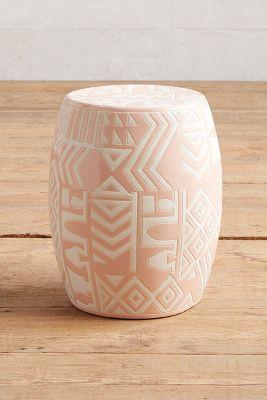 Whit Ceramic Stool Anthropologie