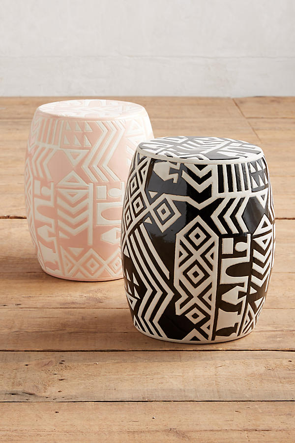 Slide View: 3: WHIT Ceramic Stool