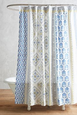 Curtains Ideas anthropology shower curtain : Azule Shower Curtain | Anthropologie