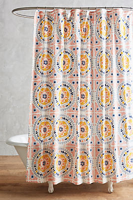 Slide View: 1: Tegula Shower Curtain