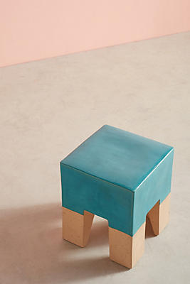 Slide View: 1: Glaze-Dipped Side Table