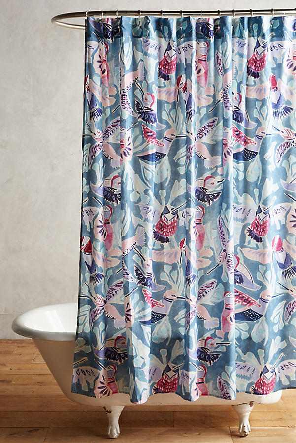 Painted Bird Shower Curtain