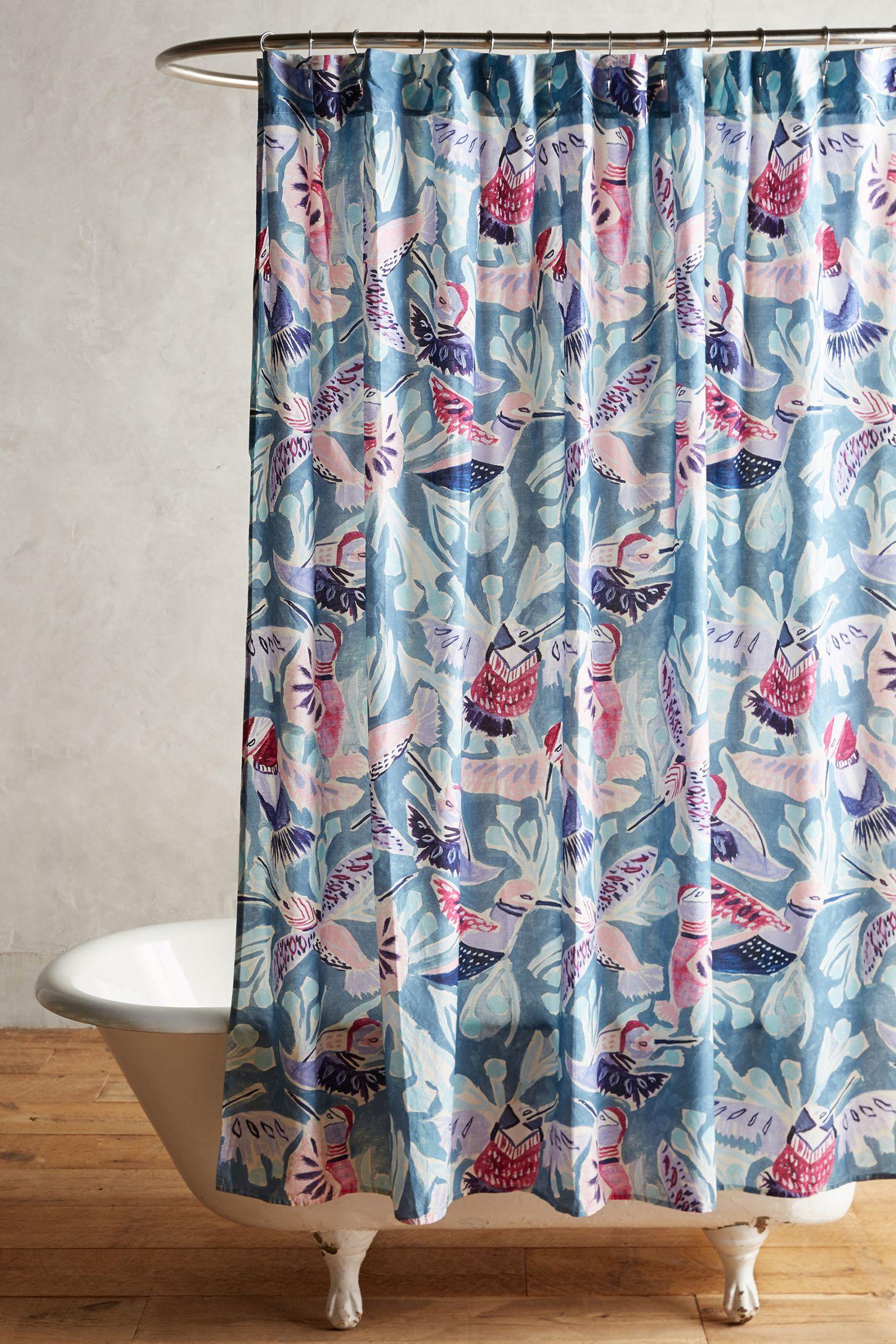 Painted Bird Shower Curtain | Anthropologie