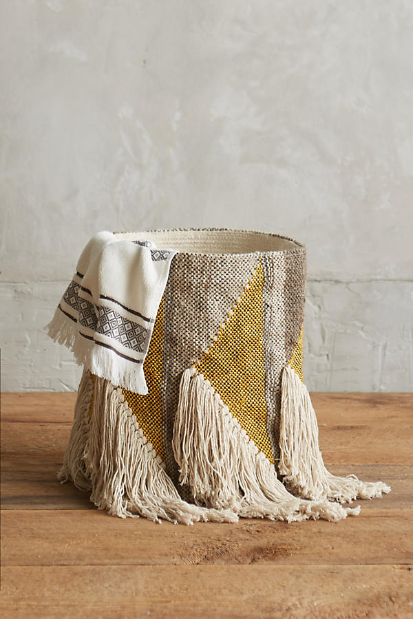 Slide View: 2: Fringed Triangle Basket