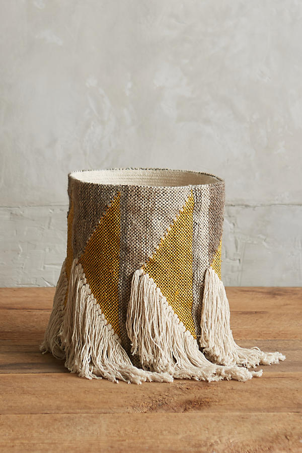Slide View: 1: Fringed Triangle Basket