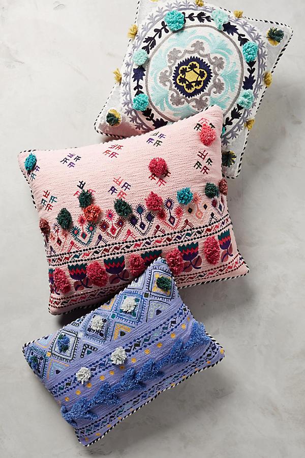 tufted leyland pillow anthropologie. Black Bedroom Furniture Sets. Home Design Ideas