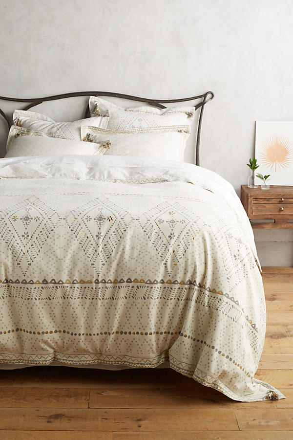 Slide View: 2: Embroidered Pointilliste Duvet