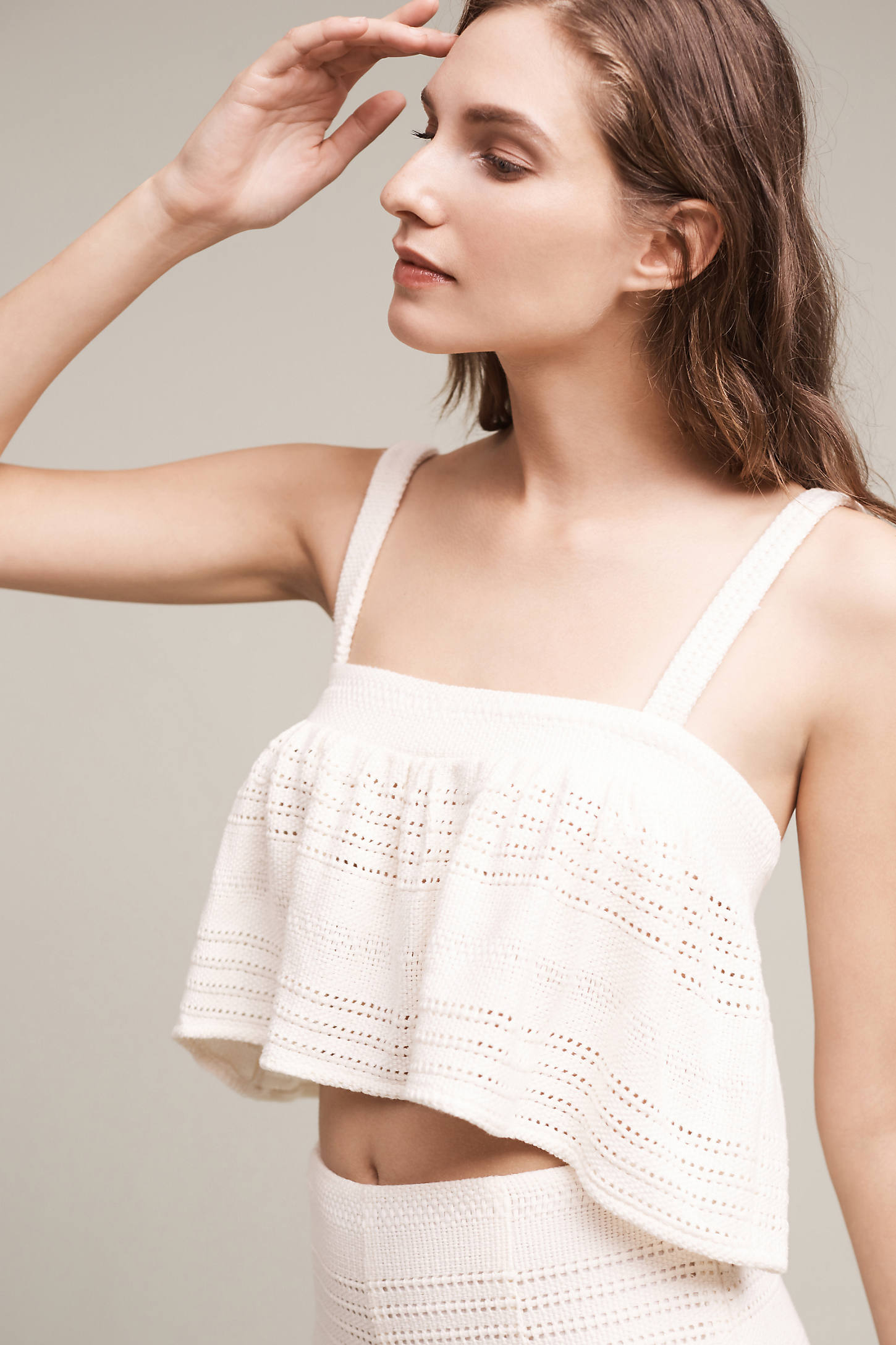 Mara Hoffman Crocheted Crop Bikini Top