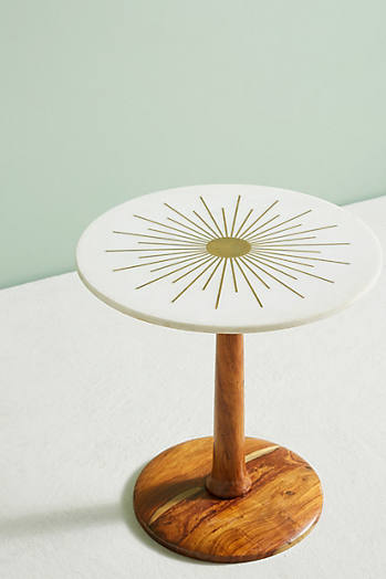 Slide View: 2: Table d'appoint Starburst en laiton