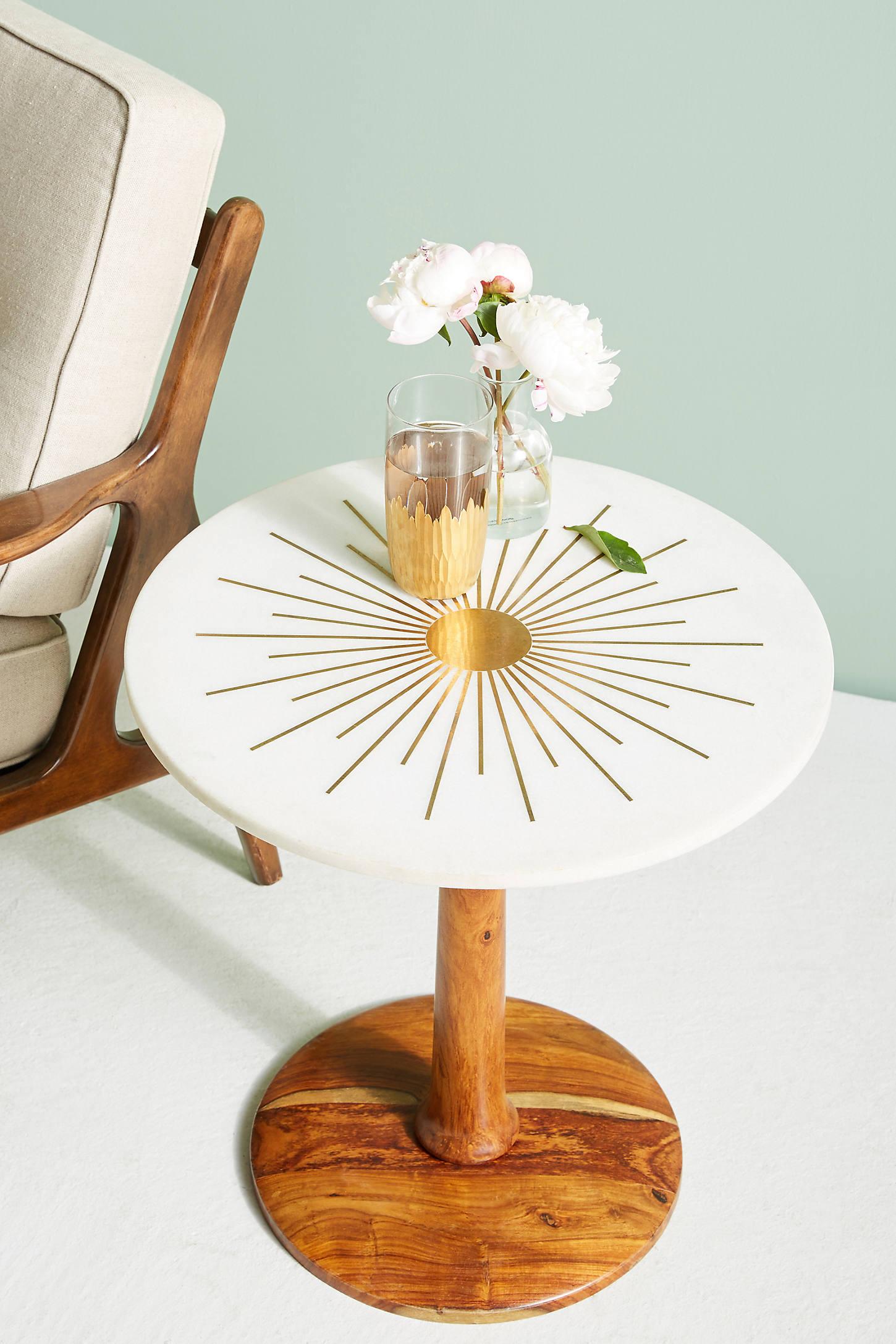 Brass Starburst Coffee Table