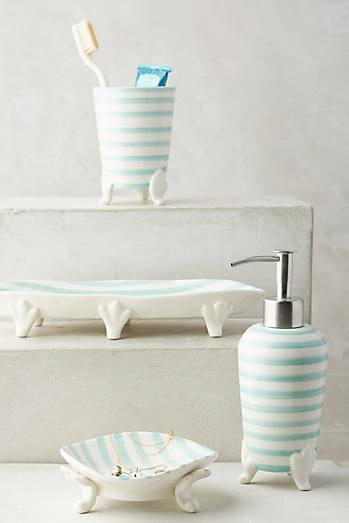 Mint Stripes Bath Container. Mint   Bathroom Decor   Accessories   Anthropologie
