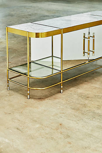 Slide View: 6: Brass Parabola Console