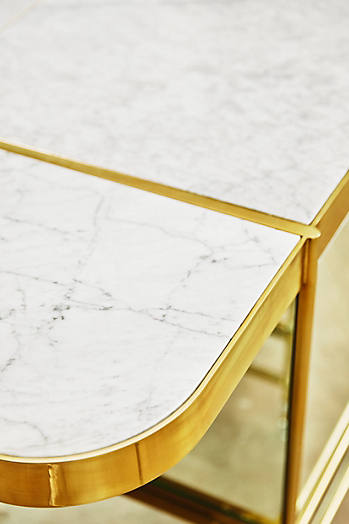 Slide View: 7: Brass Parabola Console