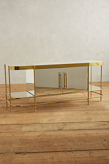 Slide View: 1: Brass Parabola Console