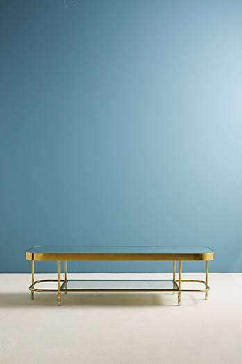 Slide View: 2: Brass Parabola Coffee Table