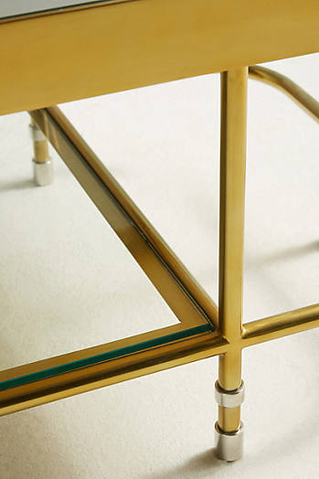 Slide View: 3: Brass Parabola Coffee Table